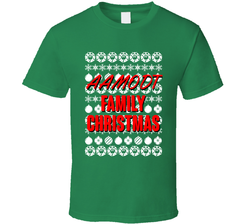 Aamodt Family Christmas Ugly Xmas Sweater Symbols Funny T Shirt