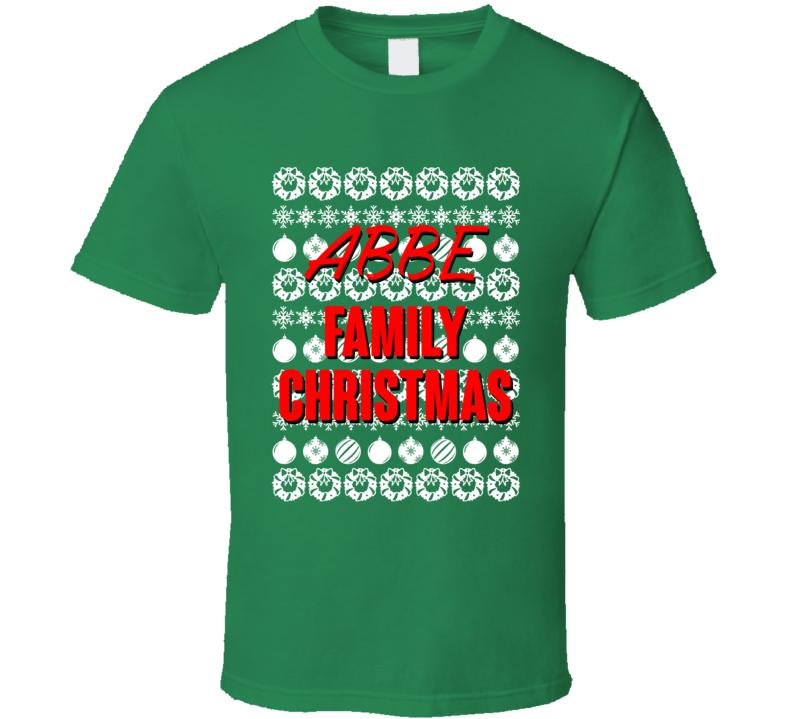Abbe Family Christmas Ugly Xmas Sweater Symbols Funny T Shirt