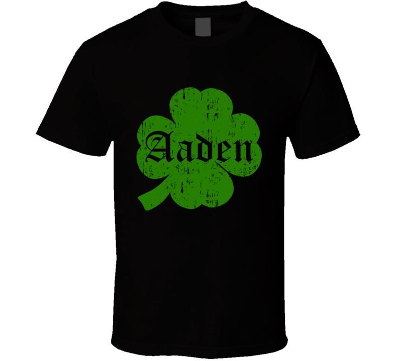 Aaden Clover St Patricks Day Name T Shirt