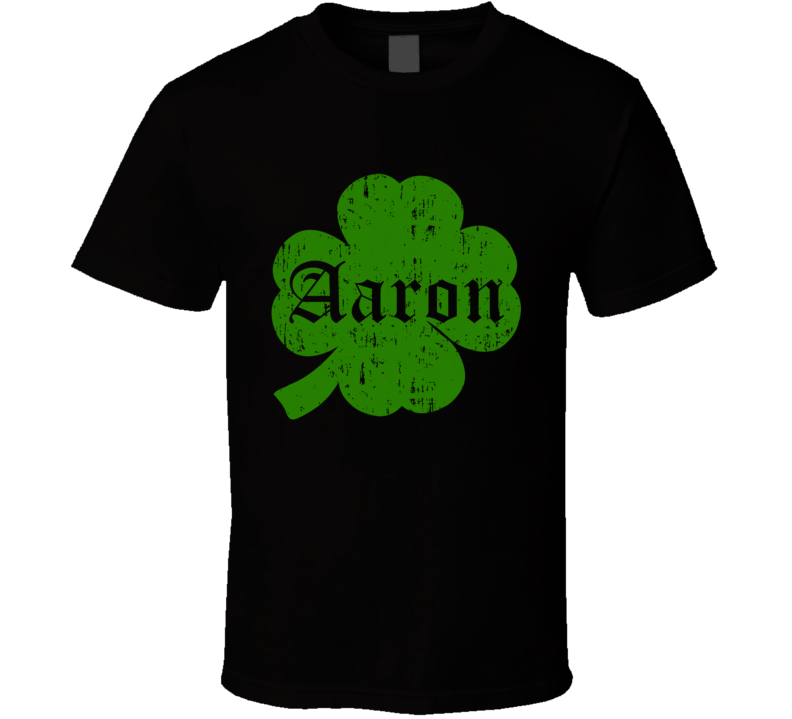Aaron Clover St Patricks Day Name T Shirt