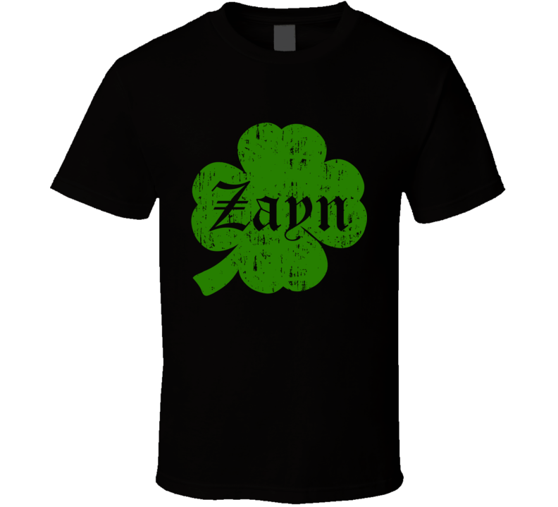 Zayn Clover St Patricks Day Name T Shirt