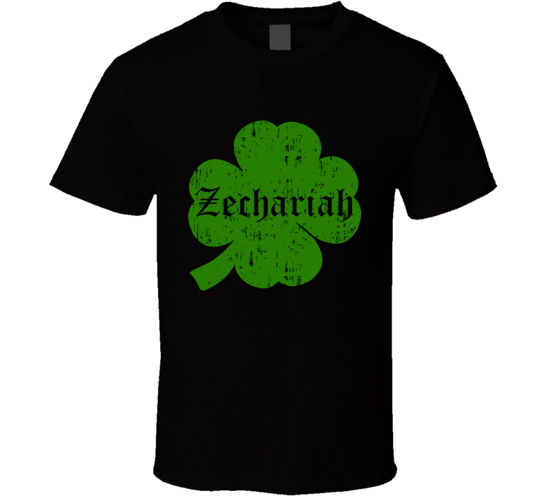 Zechariah Clover St Patricks Day Name T Shirt
