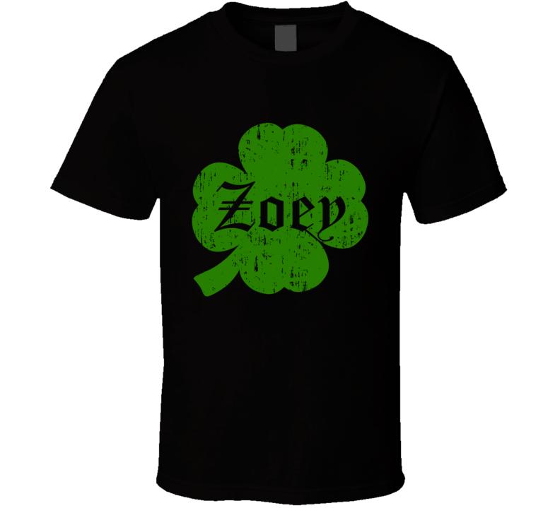 Zoey Clover St Patricks Day Name T Shirt