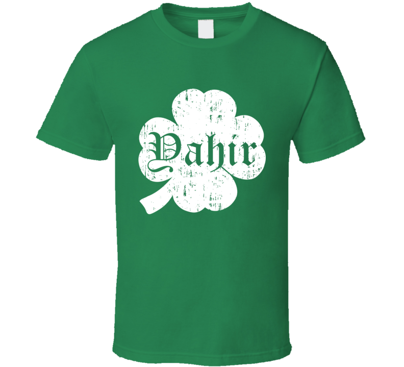 Yahir St Patricks Day Clover Name T Shirt