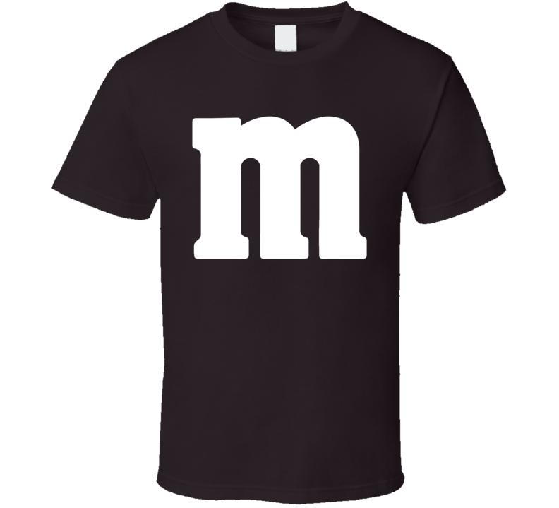 M&m Chocolate Logo Brown Halloween Costume T Shirt