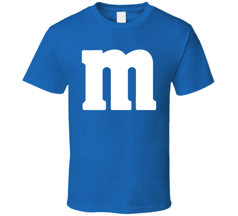 M&m Chocolate Logo Blue Halloween Costume T Shirt