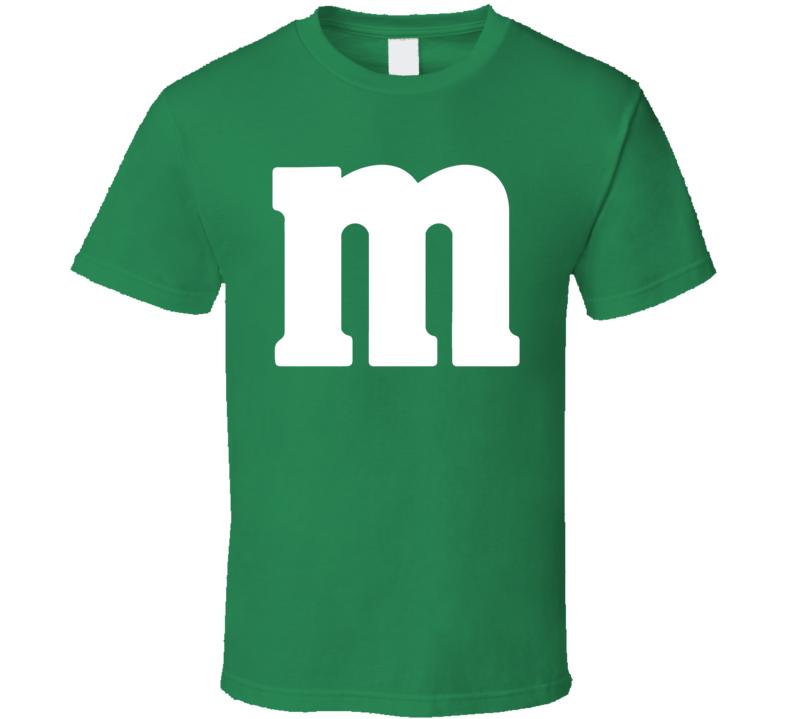 M&m Chocolate Logo Green Halloween Costume T Shirt