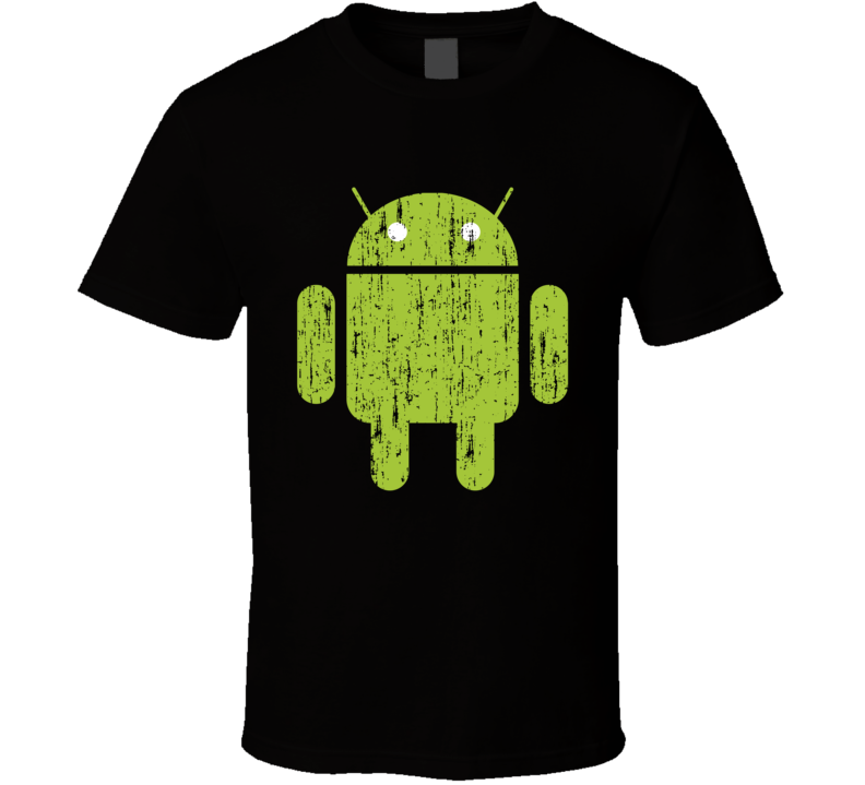 Android Phone Operating System Logo M&m Halloween Costume Aged T Shirt
