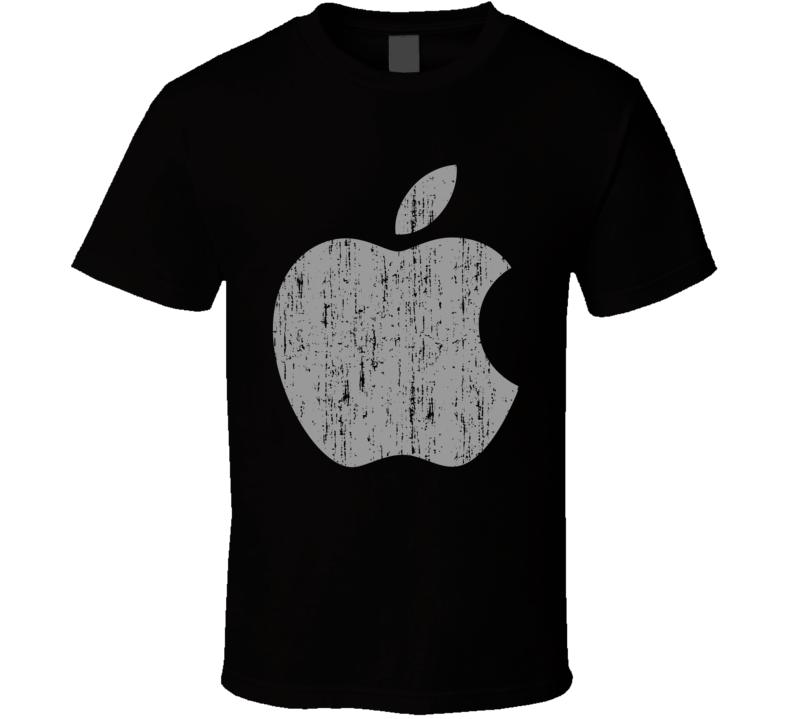 Apple Icon Symbol Ipad Iphone Halloween Costume Aged T Shirt
