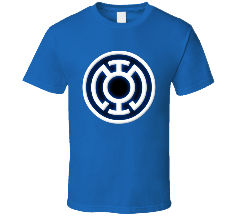 Blue Lantern Super Hero Comic Book Logo Green Halloween Costume T Shirt