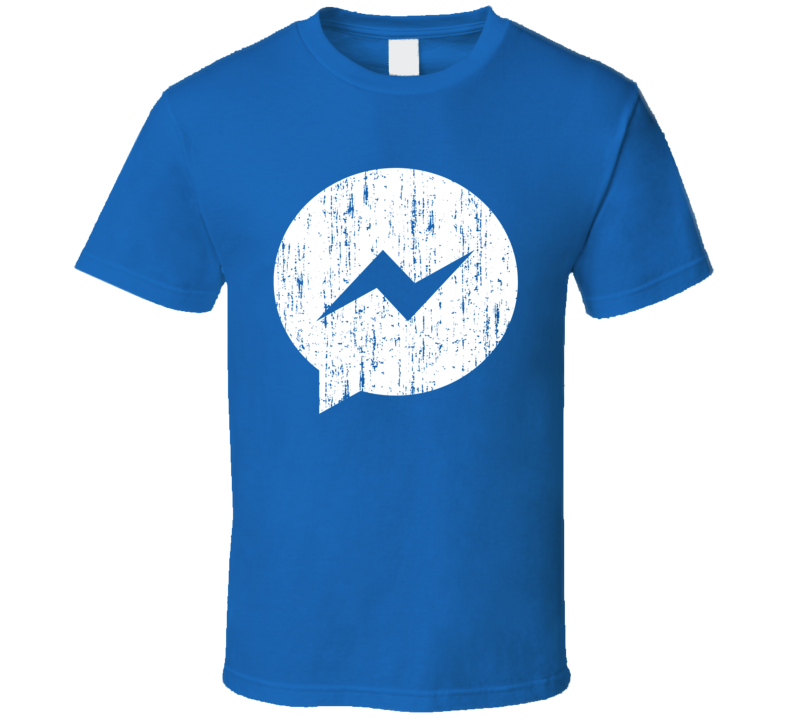 Facebook Messenger Distressed Logo Halloween Costume T Shirt