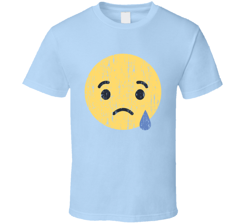 Facebook Sad Emoji Distressed Logo Halloween Costume T Shirt
