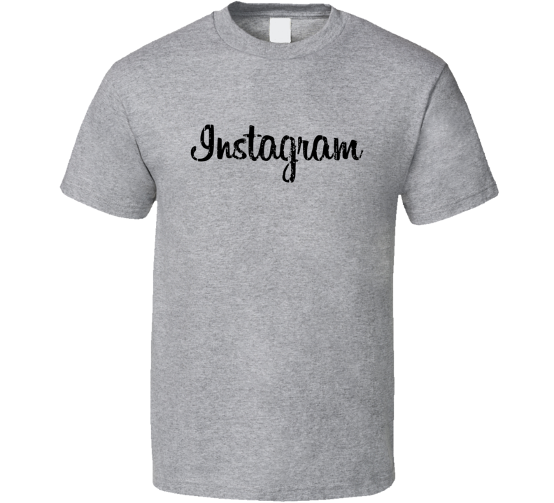 Instagram Distressed Logo Social Media Halloween Costume T Shirt