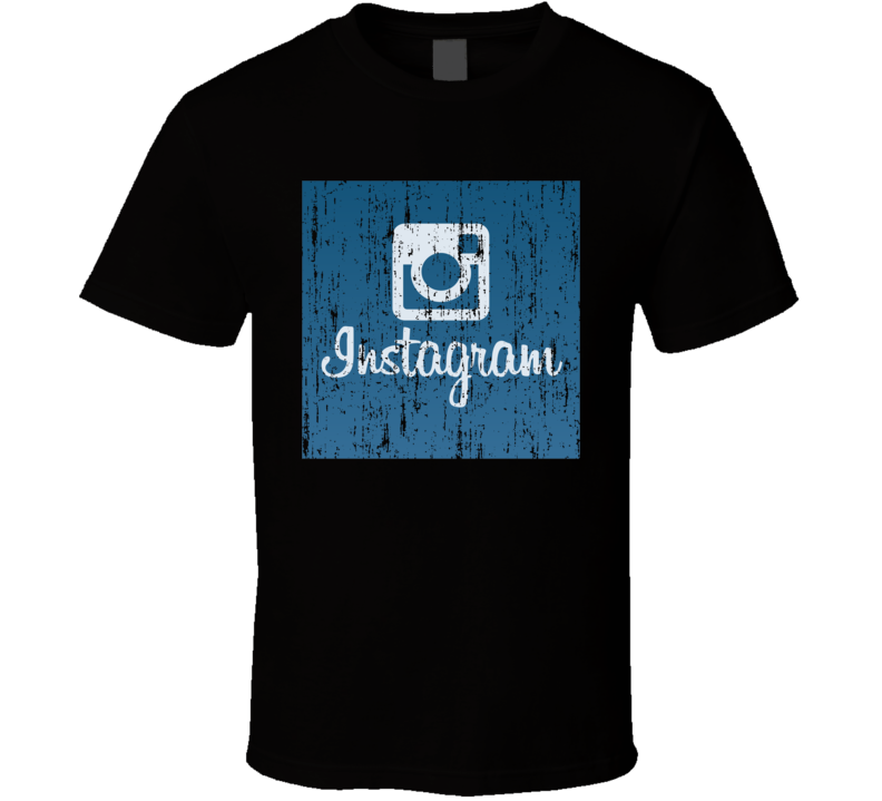Instagram Distressed Logo Halloween Costume Social Media T Shirt