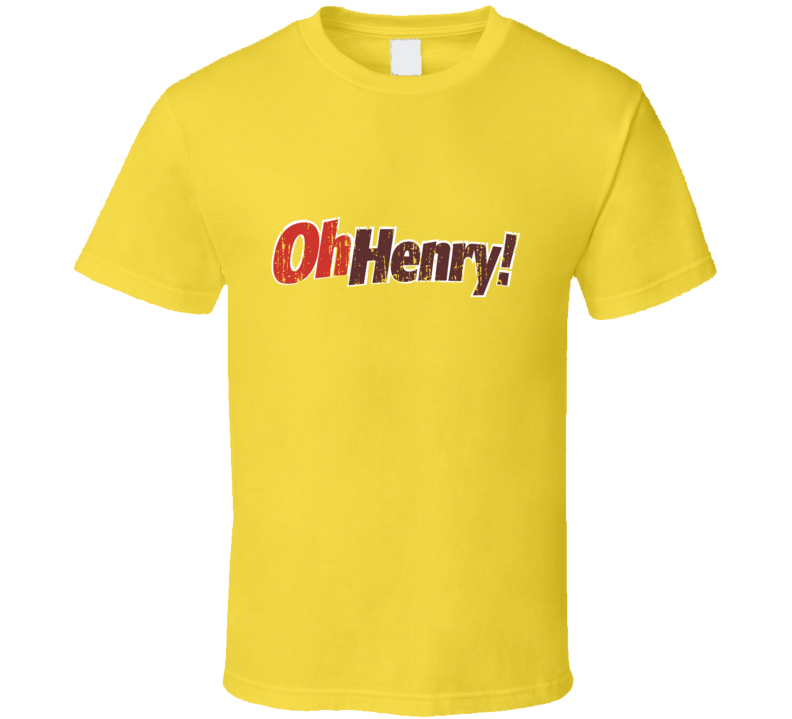 Oh Henry Chocolate Bar Distressed Logo Halloween Costume T Shirt