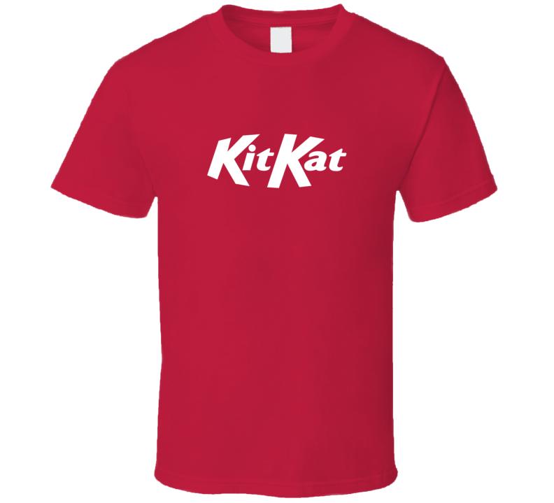 Kit Kat Chocolate Bar Logo Halloween Costume Red T Shirt