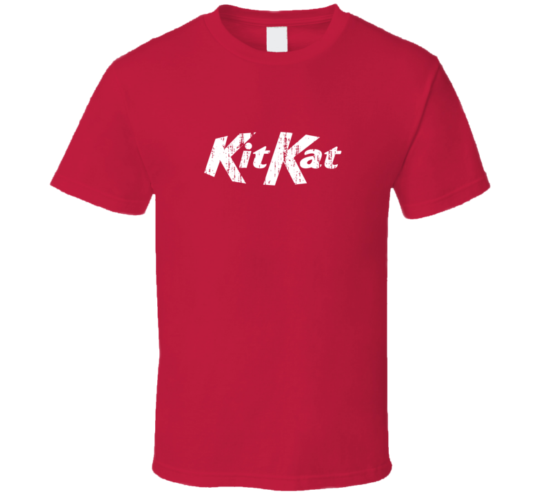 Kit Kat Chocolate Bar Aged Logo Halloween Costume Red T Shirt