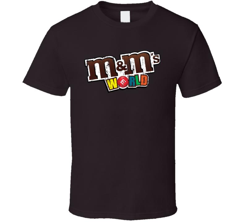 M&ms World Chocolate Bar Aged Logo Halloween Costume T Shirt