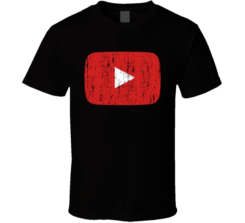 Youtube You Tube Social Media Aged Logo Halloween Costume T Shirt