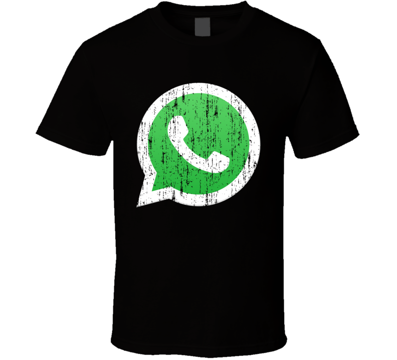 Whatsapp Whats App Social Media Aged Logo Halloween Costume T Shirt