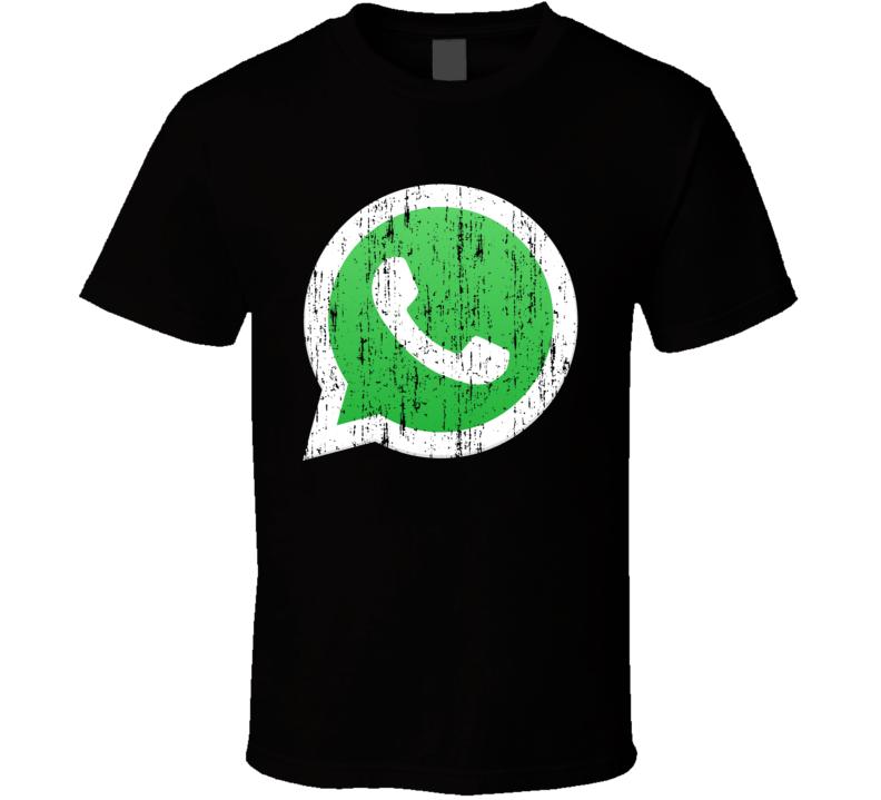 Whatsapp Whats App Social Media Aged Logo Halloween Costume T Shirt