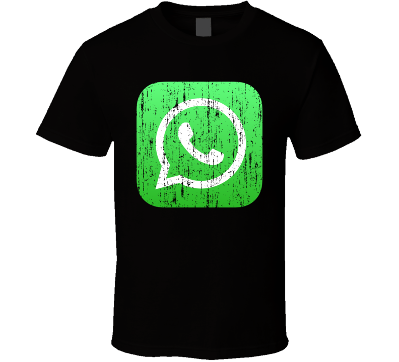 Whatsapp Whats App Aged Logo Social Media Halloween Costume T Shirt