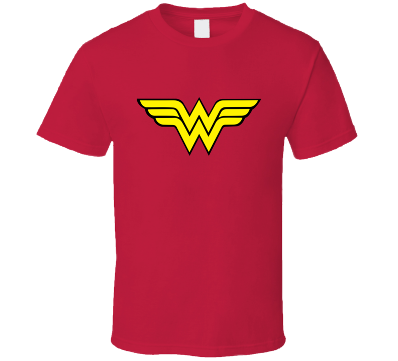 Wonder Woman Logo Super Hero Halloween Costume T Shirt