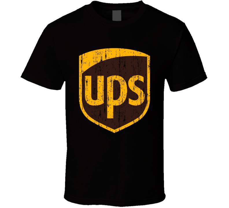 Ups United Postal Service Aged Logo Halloween Costume T Shirt