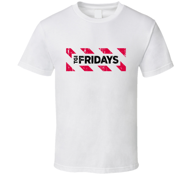 Tgi Fridays Restaurant Food Aged Logo Halloween Costume T Shirt
