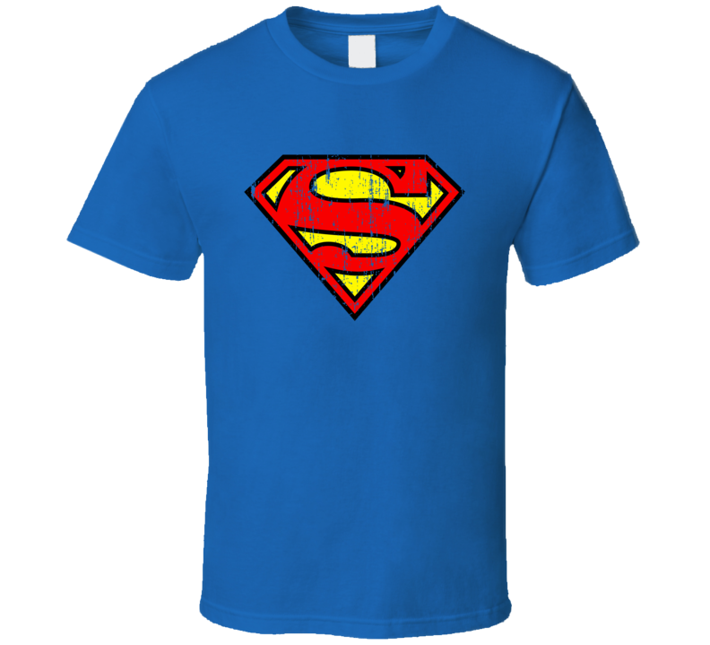 Superman Symbol Logo Halloween Costume Comic Book Aged T Shirt