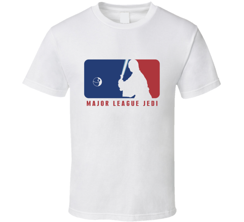 Baseball Star Wars Parody Major League Jedi Luke T Shirt