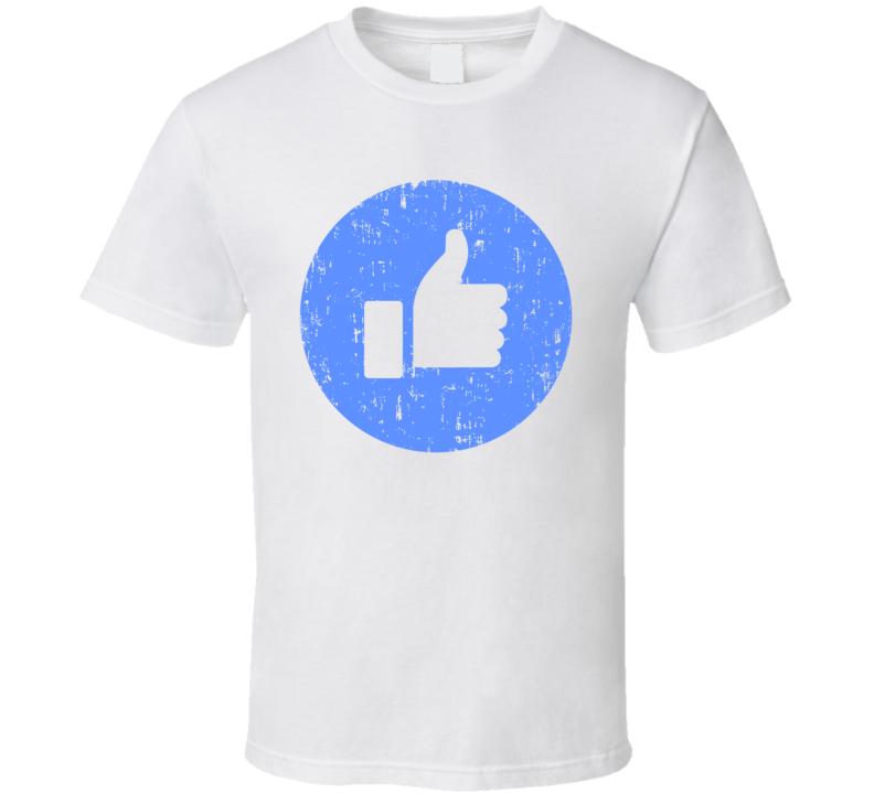 Like Symbol Facebook Halloween Costume Social Media Aged T Shirt