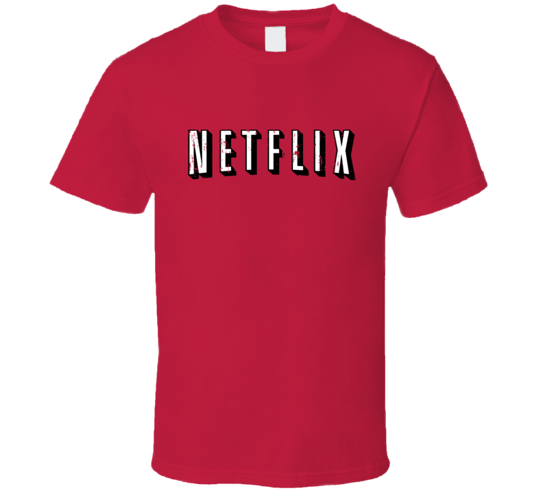 Netflix Logo Streaming Movie Tv Halloween Costume Aged T Shirt