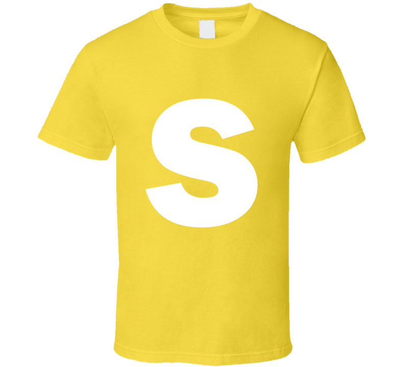 Skittles Candy Logo Yellow Lemon Halloween Costume T Shirt