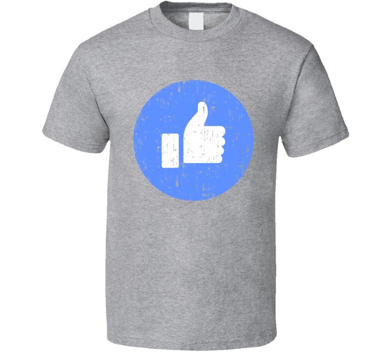 Like Symbol Facebook Social Media Halloween Costume Aged T Shirt