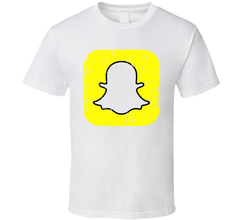 Snapchat Logo Social Media Halloween Costume Aged T Shirt