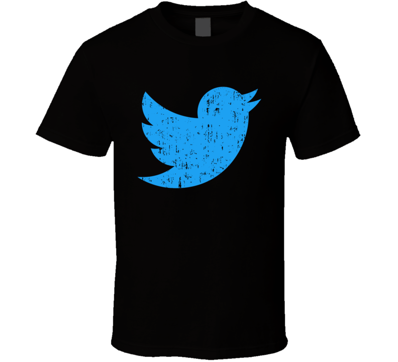 Twitter Bird Social Media Logo Halloween Costume Aged T Shirt