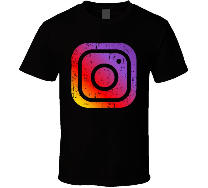 Instagram Social Media Logo Halloween Costume Aged T Shirt