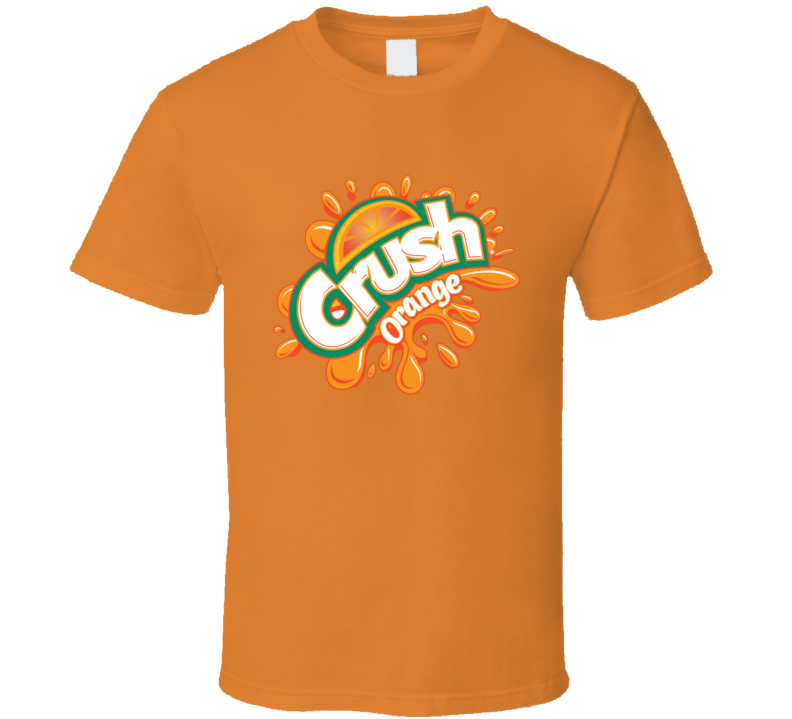 Crush Orange Soda Pop Logo Halloween Costume T Shirt