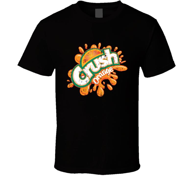 Crush Orange Soda Pop Logo Halloween Costume Aged T Shirt