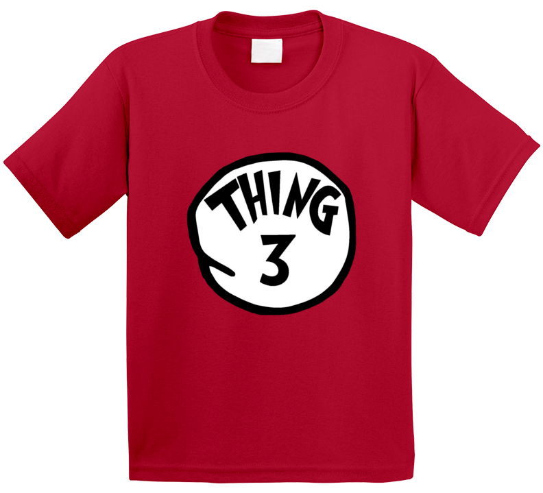 Thing 3 Three Cat In The Hat Seuss Halloween Costume T Shirt