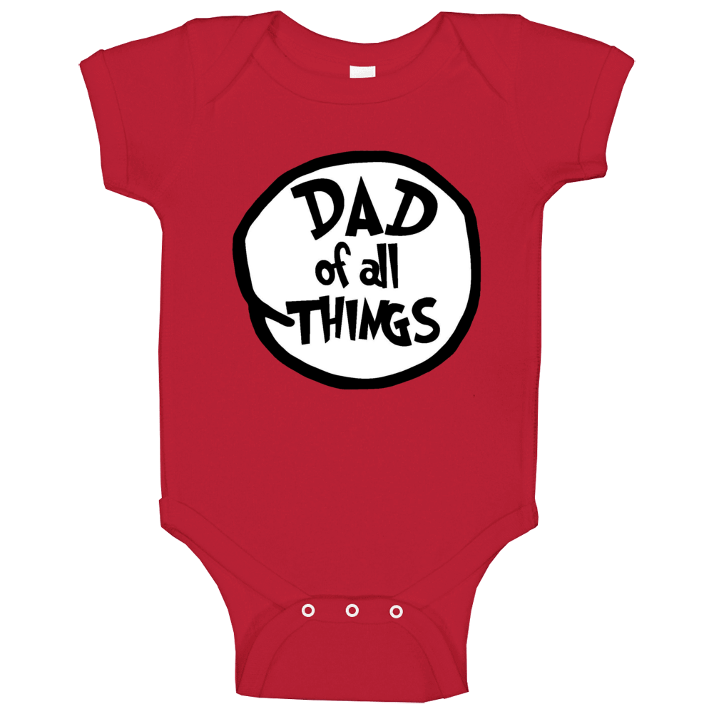 Dad Of All Things Cat In The Hat Seuss Halloween Costume Baby One Piece
