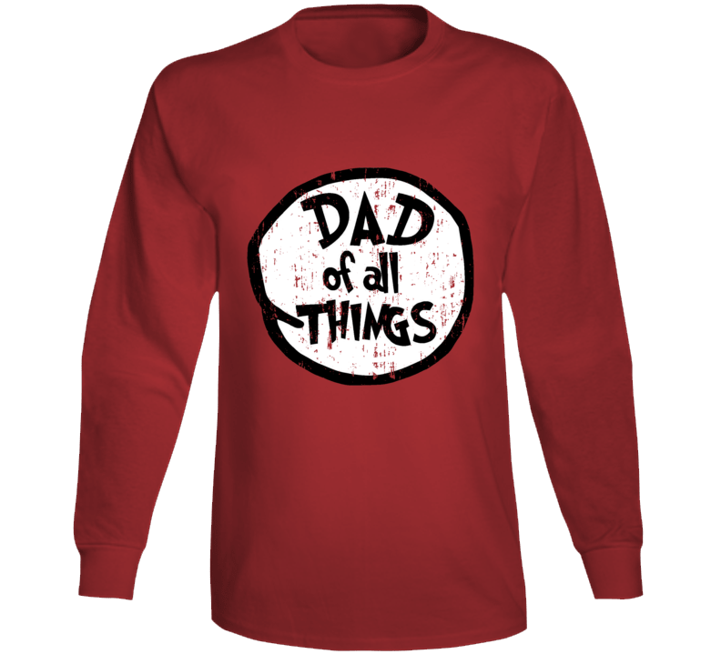 Dad Of All Things Cat In The Hat Seuss Halloween Costume Aged Long Sleeve