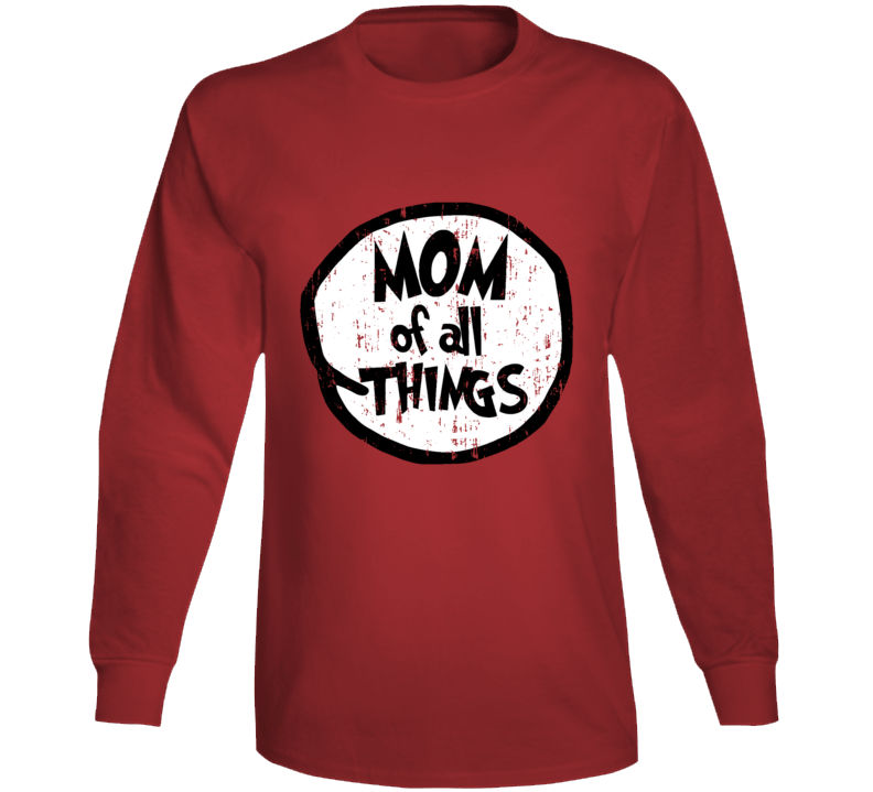 Mom Of All Things Cat In The Hat Seuss Halloween Costume Aged Long Sleeve