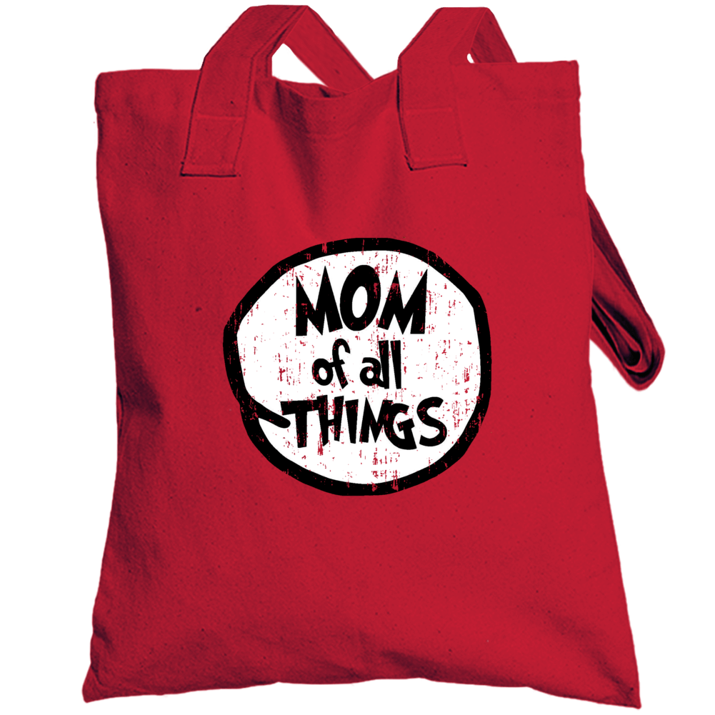 Mom Of All Things Cat In The Hat Seuss Halloween Costume Aged Totebag