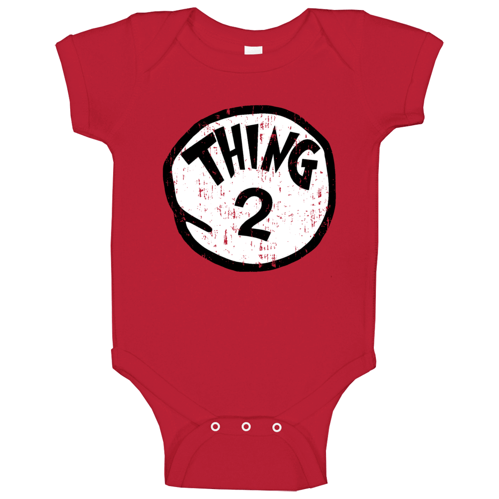 Thing 2 Two Cat In The Hat Seuss Halloween Costume Aged Baby One Piece