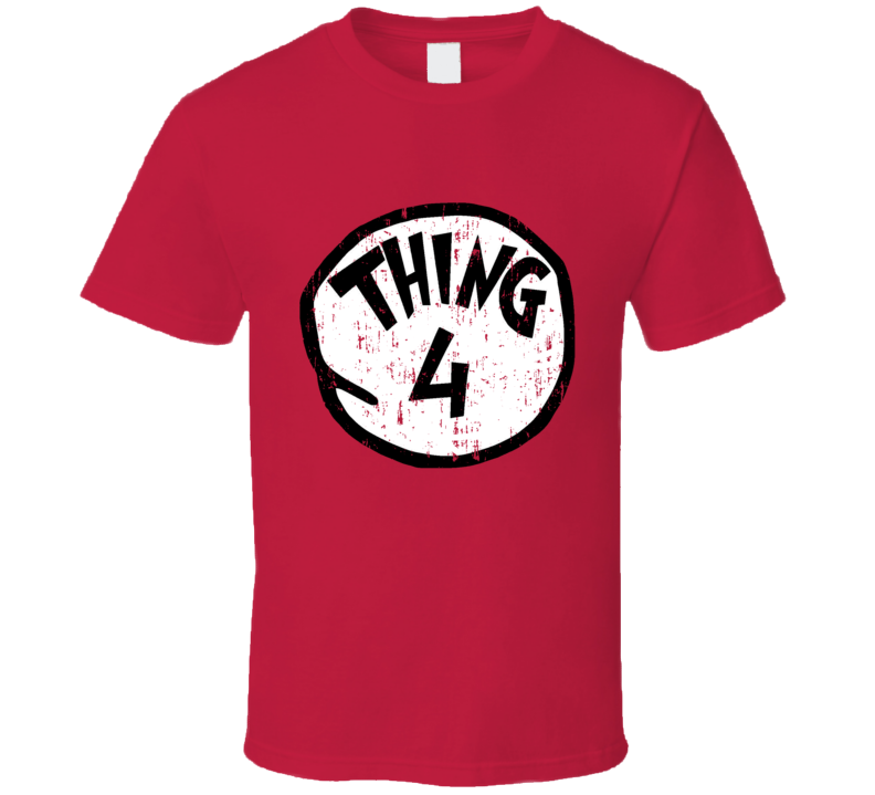 Thing 4 Four Cat In The Hat Seuss Halloween Costume Aged T Shirt