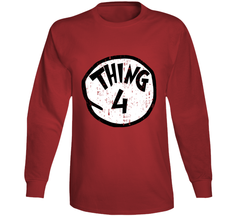 Thing 4 Four Cat In The Hat Seuss Halloween Costume Aged Long Sleeve
