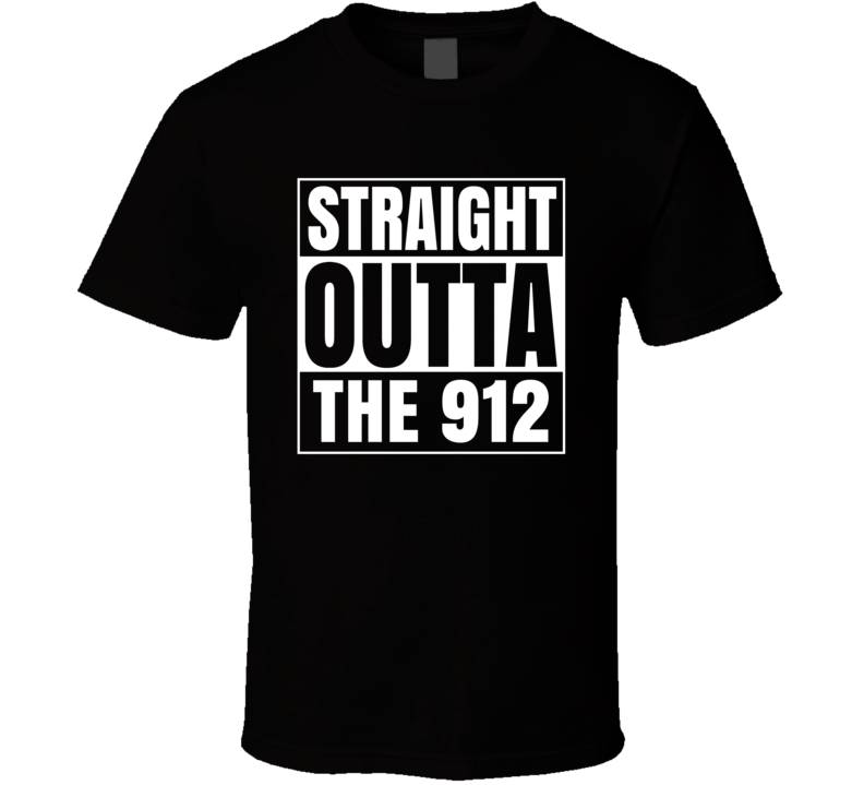 Straight Outta The 912 Georgia Area Code NWA Parody T Shirt