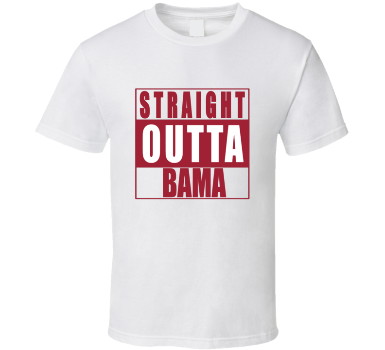 Straight Outta Bama Alabama Football NWA T Shirt